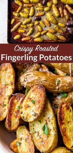 The best crispy roasted fingerling potatoes. This fast, versatile side dish is perfect for healthy weeknight dinners and special occasions!#potatoes #sides #roastedpotatoes #wellplated Roasted Broccoli And Carrots, Roasted Fingerling Potatoes, Roasted Vegetables, Crock Pot Baked Potatoes, Oven Baked Bacon, Easy Delicious Recipes, Tasty, Basic Butter Cookies Recipe, Healthy Weeknight Dinners