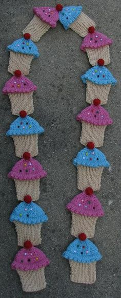 Cupcake Scarf PDF Knitting Pattern by wrchili on Etsy, $4.00