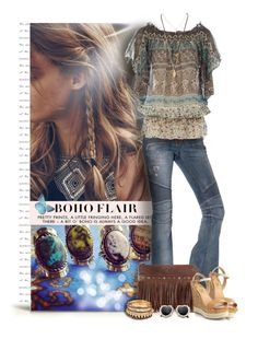 Boho Love by cindycook10 on Polyvore featuring Dorothy Perkins, Balmain, Salvatore Ferragamo, Patricia Nash, Wet Seal, Dogeared, boho, ootd and jeans