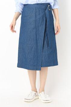 C/LIデニム 巻きスカート
