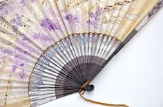 antique hand painted japanese fan by athenastudio on Etsy, $42.00