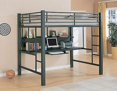Workstation Full Size Loft Bed With Desk Bunk Bed Bunkbed
