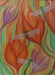 Trio of Dragonflies by Diane  Andrasic