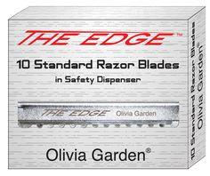 The Olivia Garden Edge Razor is comfortable, lightweight and balanced. #OliviaGarden #BeautyTools #EdgeRazor