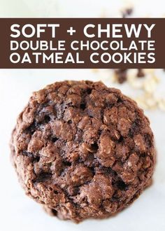 If you know a chocolate lover (or are one yourself), you'll want to make these delicious double chocolate oatmeal cookies stat. Soft and chewy, these aren't just any cookies: they come with a double dose...