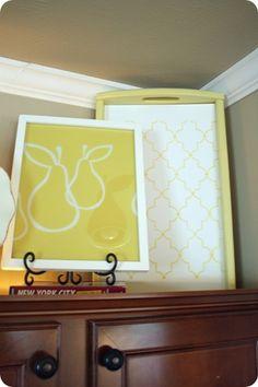 Love above cabinet decor