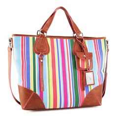 This preppy tote bag is perfect for your next beach vacation.