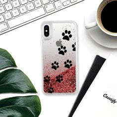 Cats Paws - Transparent - Glitter Case #cats #paws #prints #iphone #case #glitter #iphonecase #footprints