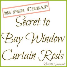 DIY Bay Window Curtain Rod Back Tab Curtains Tab curtains