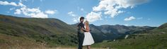 Loveland Pass Wedding Bride and Groom in Scenic Landscape
