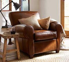 Manhattan Leather Sofa | Pottery Barn
