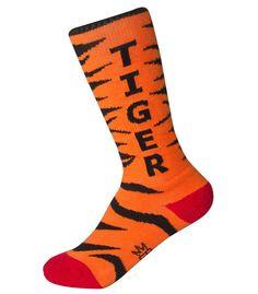 Kids' Tiger Socks by Gumball Poodle Crazy Socks, Cool Socks, Novelty Socks, Kids Socks, Tiger Stripes, Gumball, Poodle, Color Patterns, Children