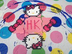 How to make a pegboard bead box. Hello Kitty Hama Bead Pot - Step 11