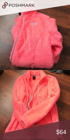 Women's north face jacket Size small in excellent condition. Color is more pink than orange. The North Face Jackets & Coats