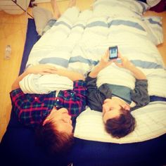 Caspar lee and Troye sivan in bed together.