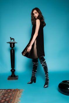 Pile dress by Celeni Wool Dress, Black Wool, Dress Black, Wonder Woman, Superhero, Dresses, Women, Vestidos, Dress
