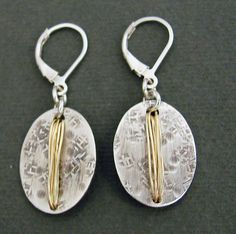 Oxidized Gold Collection Earrings