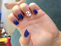 Rays Baseball Nails