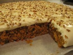 Helppo porkkanakakku Joko, Food And Drink, Pie, Pudding, Yummy Food, Sweets, Bread, Baking, Ethnic Recipes