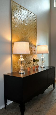 scale feature wall. sooo easy and soo genius! love this idea! #homedecor