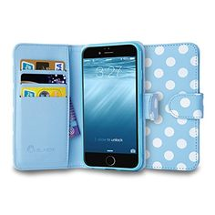 iPhone 6 Plus Case, i-Blason Apple iPhone 6 Plus Case 5.5 Inch Leather Case Slim Wallet Book Cover plus Stand Feature + Credit Card ID Holders for iPhone 6 Plus (Dalmatian Blue / White) i-Blason http://www.amazon.com/dp/B00M0YWKPC/ref=cm_sw_r_pi_dp_CJhfub1WZMGAQ