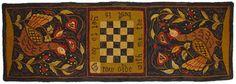Beautiful hooked rug by Jeannine Happe