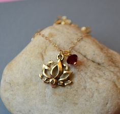 Gold Lotus Flower Necklace