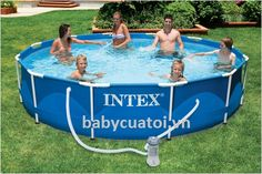 Bể bơi khung kim loại 3m66 có máy lọc nước INTEX 56996