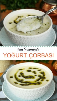 Yogurt Soup (with video) - Yummy Recipes - How to make Yogurt Soup (with video) Recipe? # Çorbatarif of soup the - Turkish Yogurt, Turkish Sweets, Burger Recipes, Soup Recipes, Turkish Kitchen, Food Articles, Fresh Fruits And Vegetables, Turkish Recipes, Iftar