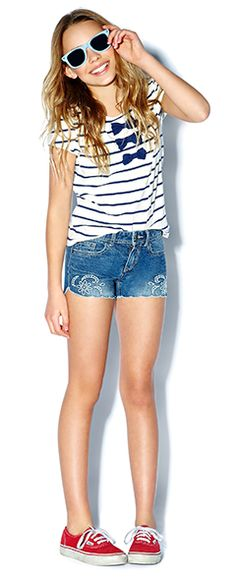 Junior Girls clothing, kids clothes, kids clothing | Forever 21 #Stripes #Bows #nautical... they have a forever 21 kids has some cute things! check it out!