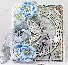 A Mermaids Crafts, Card with flowers
