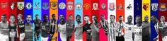 Premier League #newseason #footballers #englishleague #england #premierdivision #arsenal #alexissanchez #bournemouth #marcpugh #burnley #benmee #chelsea #hazard #crystalpalace #cabaye #everton #lukaku #hull #elmohamady #manchester #city #football #silva #manchester #united #degea #middlesbrough #boro #downing #southampton #ward-prowse #stoke #shaquiri #sunderland #borini #swansea #ayew #tottenham #kane #watford #deeney #wba #rondon #westham #payet #fifa