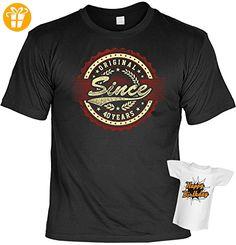 T-Shirt 40.Geburtstag Geschenkset : Original since 40 Years -- T-Shirt Set Goodmann ® + Mini T-Shirt Gratis Gr: L Farbe: schwarz - T-Shirts mit Spruch | Lustige und coole T-Shirts | Funny T-Shirts (*Partner-Link)