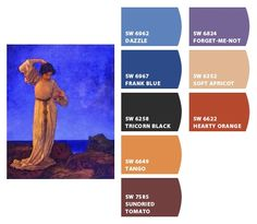 Paint colors from Chip It! by Sherwin-Williams Maxfield Parrish, Forget Me Not, Marquis, Wisteria, Color Pallets, Tango, Paint Colors, Theatre, Champagne