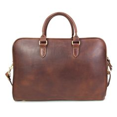 Leather Briefcase - Brown Leather | J.W. Hulme Co.