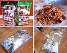 PERFECTLY SMOKED MEATS Turn your grill into a smoker by placing wood chips into a foil, folding it into a pouch, and cutting a few holes! You can easily add that rich, smoky flavor to your favorite grilled meats. Smoking Chips, Smoking Meat, Smoking Wood, Pork Ribs Grilled, Grilled Meat, Cooking Games, Cooking Tips, Paleo On The Go, Going Paleo