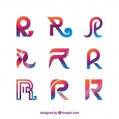Modern letter r logo collection Typography Logo, Typography Design, Logo Branding, Branding Design, Lettering, Restaurant Logo, Logos Retro, Hand Logo, Monogram Logo