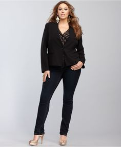 INC Plus Size Blazer & Jeans