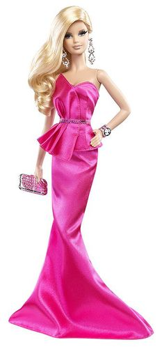 So elegant with this Pink Gown.  A new Barbie look for 2014.