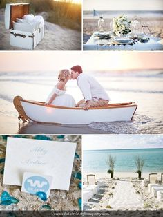 Beach weddings.... Yes please!!!..... If I could just give someone a wedding date and they could make this happen that would be awesome!!