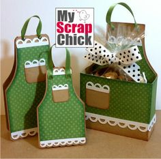 My Scrap Chic -  Apron treat box, card and tag svg cut file