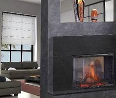 Simplifyre See-Through Electric Fireplace