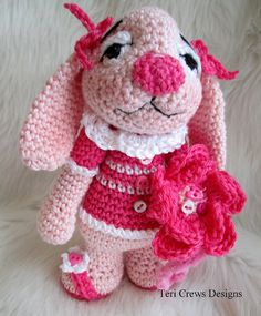 Tiny Bunny Crochet Pattern by Teri Crews by TeriCrewsCrochet