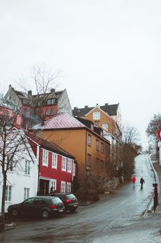 Painted houses in Trondheim Norway - travel photography City Aesthetic, Travel Aesthetic, The Places Youll Go, Places To See, Beautiful World, Beautiful Places, Norway House, Trondheim Norway, Norway Travel