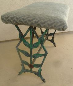 Cast Iron Art Deco Bench #antiquebench