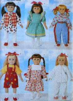 "18""  Doll Clothes Sewing Pattern"