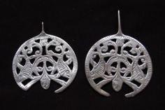 Two silver salhat or salhayat-pendants, worn in Siwa oasis, Libya and Tunisia