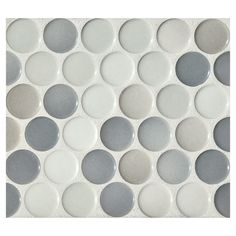 Penny Round Mosaic   Graphite Blend Gloss   Complete Tile Collection