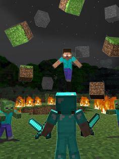 Minecraft Diy, Minecraft Zombie, Images Minecraft, Minecraft Drawings, Minecraft Songs, Mine Minecraft, Herobrine Wallpaper, Minecraft Wallpaper, Zombie Wallpaper