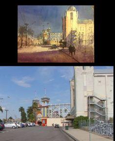 Herman Pekel Luna Park Watercolor City, Watercolor Sketchbook, Watercolor Landscape, Gouache Painting, Watercolor Paintings, Outdoor Painting, Australian Painters, Urban Landscape, Cityscapes